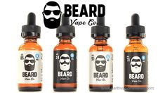 A review of four popular flavors from Beard Vape Co. High VG blends available in glass bottles with four nicotine levels to choose from. #vape #vaping #beardvape #vapereviews #eliquid #ejuice