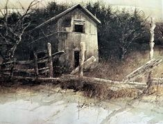 Hubert Shuptrine Print Orchard Barn, Highlands NC Rural Landscape, Southern ARt Print, American Artist, Rustic Wooden Barn, Original Print by MushkaVintage3 on Etsy