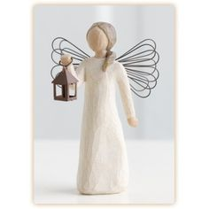 Willow Tree Angel of Hope Figurine- Sharing the light of hope and courage. - Willow Tree Specialist Retailer I have this one bobbie jo Willow Tree Statues, Willow Tree Angels, Willow Tree Susan Lordi, Willow Figures, Willow Tree Figuren, Tree Specialist, Tree People, Tree Sculpture, Collectible Figurines