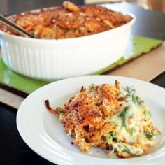 Cheddar Green Bean Casserole: A tasty twist on the Thanksgiving classic.