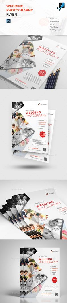 Wedding Photography Flyer — Photoshop PSD #event #corporate • Available here → https://graphicriver.net/item/wedding-photography-flyer/19242936?ref=pxcr