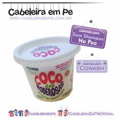 Coco das Poderosas - Novex (Embelleze) - Liberado para No Poo, Low Poo e Cowash