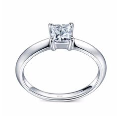 New Customized 18K White gold Princess Square Engagement Ring Bride Ring,   Engagement Rings,  US $670.90,   http://diamond.fashiongarments.biz/products/new-customized-18k-white-gold-princess-square-engagement-ring-bride-ring/,  US $670.90, US $556.85  #Engagementring  http://diamond.fashiongarments.biz/  #weddingband #weddingjewelry #weddingring #diamondengagementring #925SterlingSilver #WhiteGold
