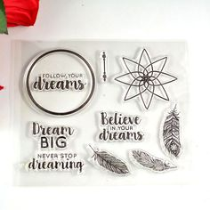 £0.82  Coolhoo 1pc TPR silicon clear Stamp flower your dream DIY Scrapbooking/Card Making/ Decoration Supplies-in Stamps from Office & School Supplies on Aliexpress.com | Alibaba Group