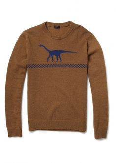 To know more about JIL SANDER Dinosaur Intarsia Camel and Wool-Blend Sweater, visit Sumally, a social network that gathers together all the wanted things in the world! Featuring over other JIL SANDER items too! Pullover Design, Sweater Design, Jil Sander, Dinosaur Sweater, Cool Gifts For Women, High Fashion, Mens Fashion, Fall Fashion, Fashion Articles