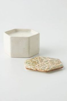 Scrollwork Ceramic Candle
