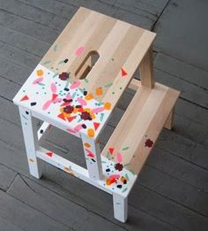 The Design Phase: Paint Dipped Stepping Stool!