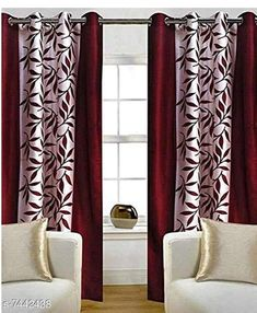 Checkout this latest Curtains_500-1000 Product Name: *Blissful House Charming Leaf Red Curtain Pack of 2 Pieces || Premium Stuff || Quality Stitching * Material: Polyester Length: Door Multipack: 2 Sizes:  7 Feet (Length Size: 7 ft Width Size: 4 ft)  9 Feet (Length Size: 9 ft Width Size: 4 ft)  5 Feet (Length Size: 5 ft Width Size: 4 ft) Country of Origin: India Easy Returns Available In Case Of Any Issue   Catalog Rating: ★3.9 (360)  Catalog Name: Classic Stylish Curtains & Sheers CatalogID_1196457 C54-SC1116 Code: 854-7442438-9961