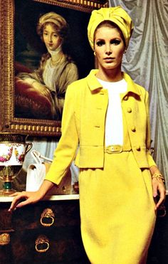Retro Fashion ♥ An instantly eye-catching yellow ensemble that would be perfectly at home on this year's season of Mad Men ♥ - From Family Circle, March 1966 60s Fashion Trends, Sixties Fashion, Retro Fashion, Trendy Fashion, Vintage Fashion, Nail Fashion, Fashion Men, Winter Fashion, Moda Retro