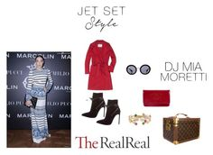 """""""Jet Set Style With DJ Mia Moretti & The RealReal: Contest Entry"""" by ramiza-rotic ❤ liked on Polyvore featuring MaxMara, Yves Saint Laurent, Chanel, Louis Vuitton, Miu Miu and Marco Bicego"""