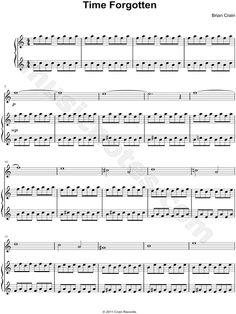 Time Forgotten Piano Sheet Music by Brian Crain