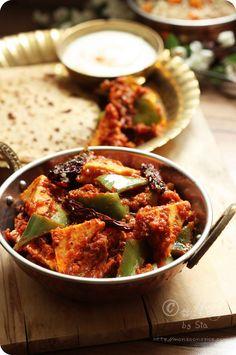 Kadai Paneer - http://www.monsoonspice.com/2012/03/kadai-paneer-karahi-paneer-recipe-how.html