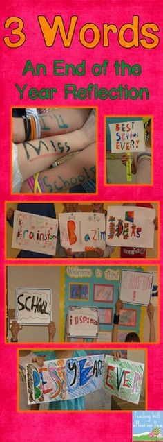 Teaching With a Mountain View: End of the Year 3 Words Activity -