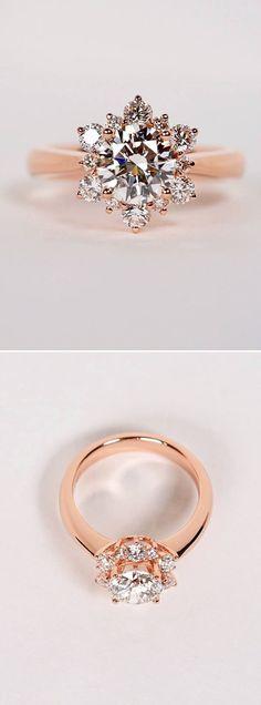diamond engagement ring in rose gold #goldring