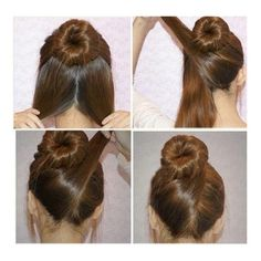 Love this - nice way to finish a bun for a seamless, easy and elegant look!