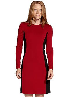 Karen Kane Wild Red Contrast Panel Dress #belk