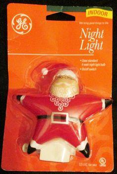 Christmas Night Light Santa Star Shaped Plugs Into Wall Off On Switch  #FrontProfitInternational