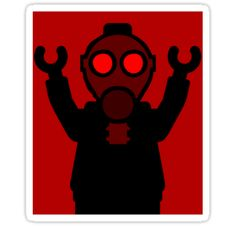 Apocalyse Minifigure wearing Gasmask by Customize My Minifig by ChilleeW