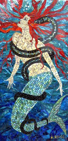 mosaic mermaid    #mosaic #art #design