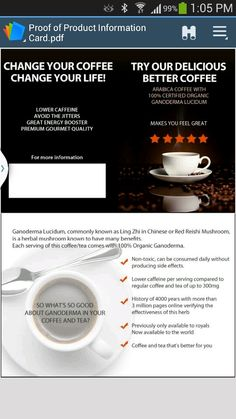 Organo Gold. . Coffee without the guilt and with the benefits. Visit www.dreamcoffeebiz.com