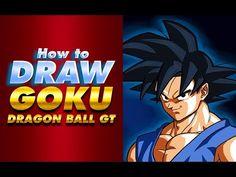Cómo dibujar a GOKU   Dragon Ball GT   How to draw Goku   Dragon Ball Super