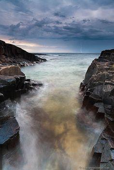Lightening! Lake Superior, Artist's Point, Grand Marais, Minnesota.  Photo: Bryan Hansel via Flickr