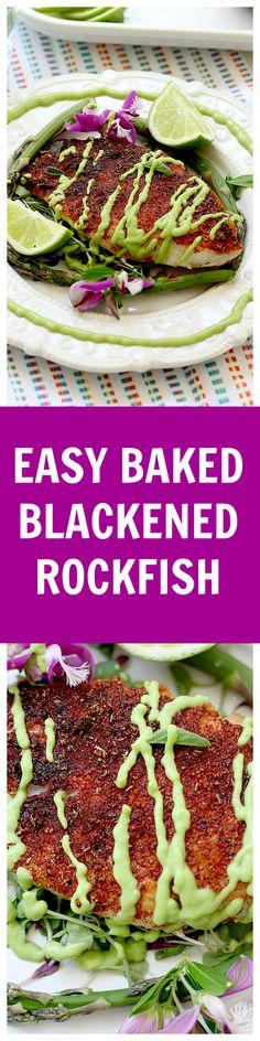 Easy baked rockfish recipe and the BEST blackened seasoning mix!