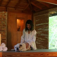Saltino's Hotel, our guest during his massage.    #Salatino #SalatinosClub #Kennel #Dog #dogs #love #perro #DogHotel #DogsHotel #DogSPA #DogsSPA
