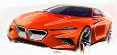 Clockwork orange BMW concept sketch