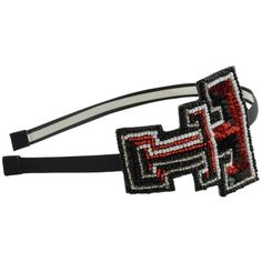 Aminco Texas Tech Red Raiders Glitter Headband ($17) ❤ liked on Polyvore featuring accessories, hair accessories, red, beaded headband, headband hair accessories, elastic sports headbands, hair band headband and sequin sports headbands