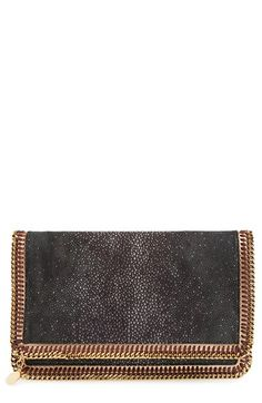 Stella McCartney 'Falabella' Faux Stingray Clutch available at #Nordstrom