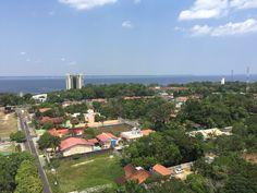 Vista aérea da ponta negra, Manaus, Am
