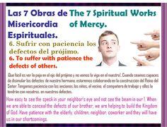 En Semana Santa Práctica la 6ta Obra de Misericordia Espiritual.