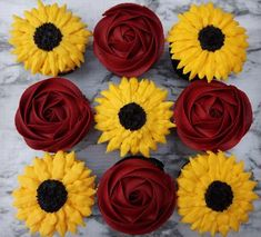 sunflower wedding Wedding Cakes - why not acquire this mind-blowing recommendations, pin reference 7201403178 here. Sunflower Cupcakes, Sunflower Party, Sunflower Baby Showers, Fall Sunflower Weddings, Sunflower Wedding Centerpieces, Rose Wedding, Dream Wedding, Wedding Card, Wedding Shoes