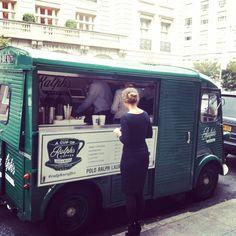 Citroën Hy food truck. Ralph Lauren coffee truck in New York.