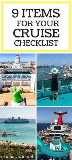 A cruise is an easy vacation. But it's not always a good idea to just pick your ship and be on your way. We have 9 items to add to your cruise checklist.