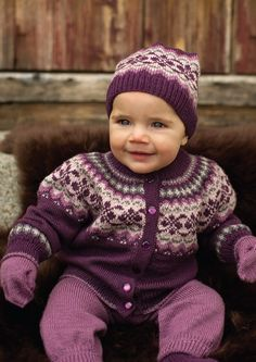 Dale Baby Book 270 at Kidsknits.com The knitting instructions for this sweet little yoked cardigan set, and many other gorgeous baby designs, are included in both English and Norwegian in Dale of Norway's Book 270, available through Kidsknits.com.
