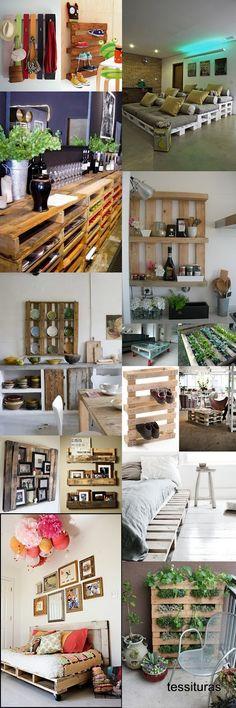 Ideias com pallets http://www.agulhaselinhas.blogspot.com.br/  pallets