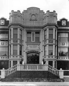 Atherton High School, exterior, Louisville, Kentucky, 1926 :: Caufield & Shook Collection