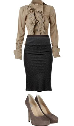 "Chic Professional Woman Work Outfit. ""A Formal Buisness Outfit"" by onedirectiionlover ❤ liked on Polyvore"