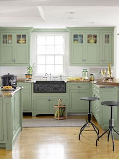 Green Kitchen Cabinets | 8 Great Green Room Ideas - Yahoo Shine