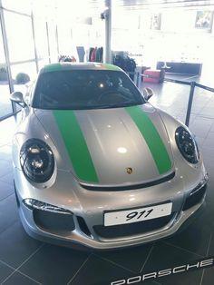 Porsche 911 R Grey & Green