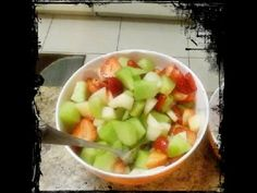FRESH FRUIT SALAD   Fruit Salad Recipe   Salad for weight loss   Quick Snack Recipe - YouTube