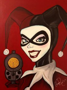 Harley Quinn painting by me. Acrylic on canvas