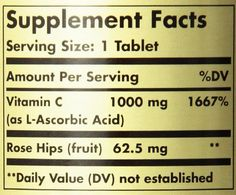 Solgar Vitamin C with Rose Hips Tablets, 1000 Mg, 250 Count -- See this great product.