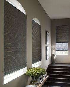 Inspired by nature for a simple, organic style, hand-woven Provenance® Woven Wood Shades have a refined natural beauty perfect for today.♦ Hunter Douglas window treatments