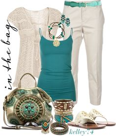 """""""Caterina Turquoise"""" by kelley74 ❤ liked on Polyvore"""