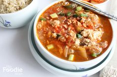 Korean Food: Soft Tofu Soup (Soondubu Jjigae) for #SundaySupper