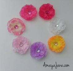 Pretty Girl Flower Hair Clips { Amaya Jane }