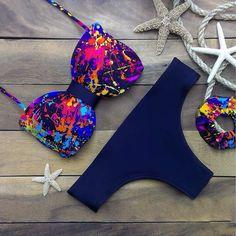 Push up bikini 2015 triangl bikinis sexy Beach para mujer del traje de baño para mujer talle bajo bañador bikini traje de baño(China (Mainland))